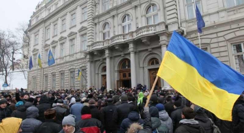 Протесты во Львове 2014 год